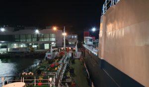 m/v Hatay Tuapse port, ship's deck