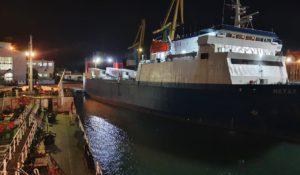Hatay ship at night