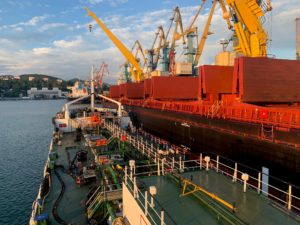 The process of bunkering vessel